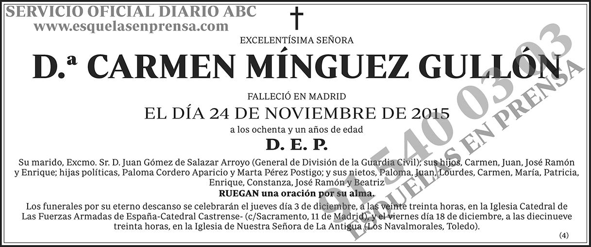 Carmen Mínguez Gullón